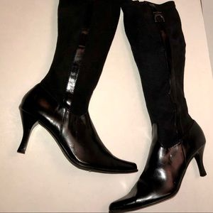 Like new black ETIENNE AIGNER knee high boots
